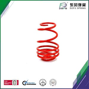 red painting suspension spring